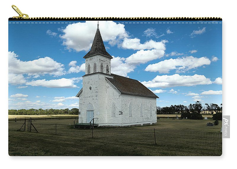 Church Carry-all Pouch featuring the photograph An Old Wooden Church by Jeff Swan