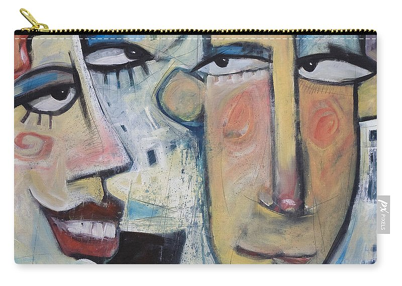 Man Carry-all Pouch featuring the painting An Uncomfortable Attraction by Tim Nyberg
