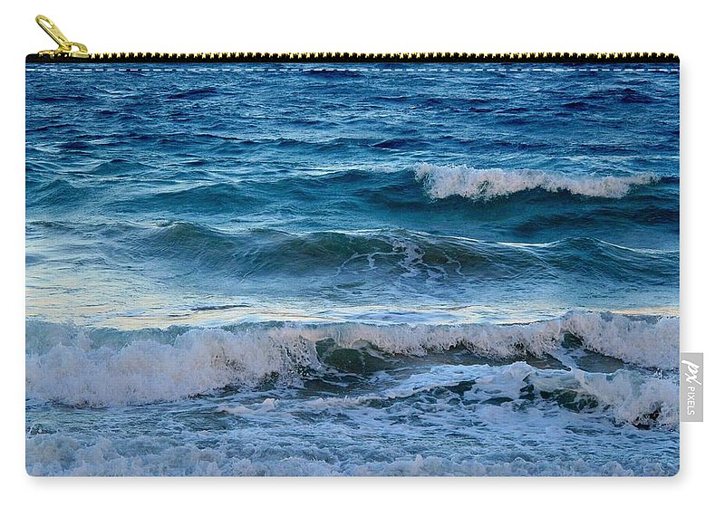 Sea Carry-all Pouch featuring the photograph An Unforgiving Sea by Ian MacDonald