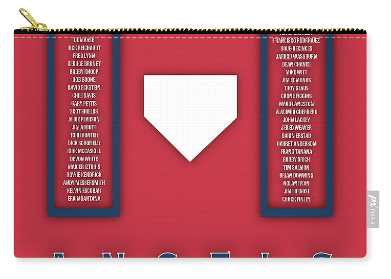 Anaheim Angels Carry-all Pouch featuring the digital art Anaheim Angels Art - Mlb Baseball Wall Print by Damon Gray