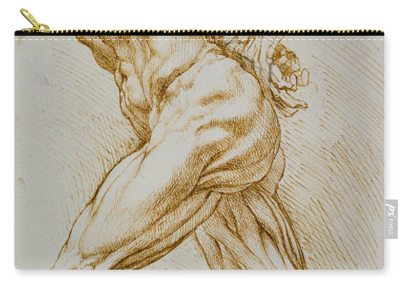 Rubens Carry-all Pouch featuring the drawing Anatomical Study by Rubens