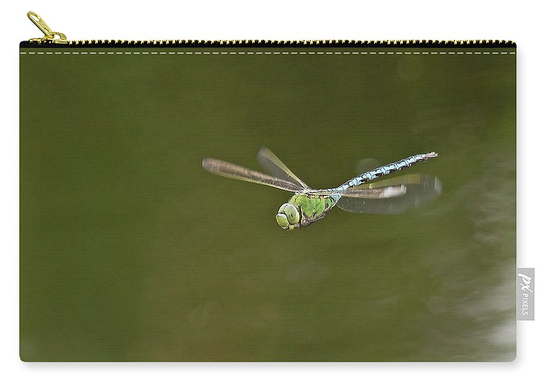 Dragonfly In Flight Carry-all Pouch featuring the photograph Anax In Flight by Bob Kemp