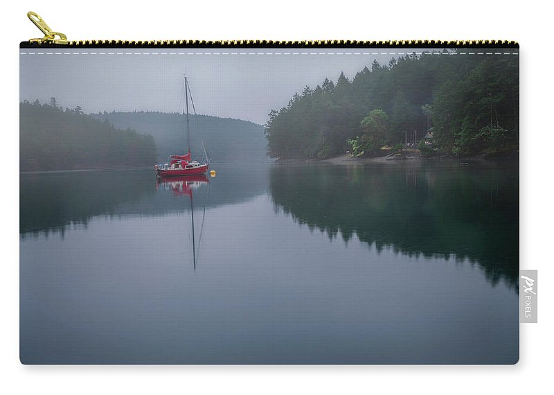 British Columbia Carry-all Pouch featuring the photograph Anchored At Horton Bay by Jacqui Boonstra