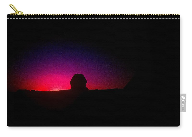 Sphinx Carry-all Pouch featuring the photograph Ancient Evenings by Gary Wonning