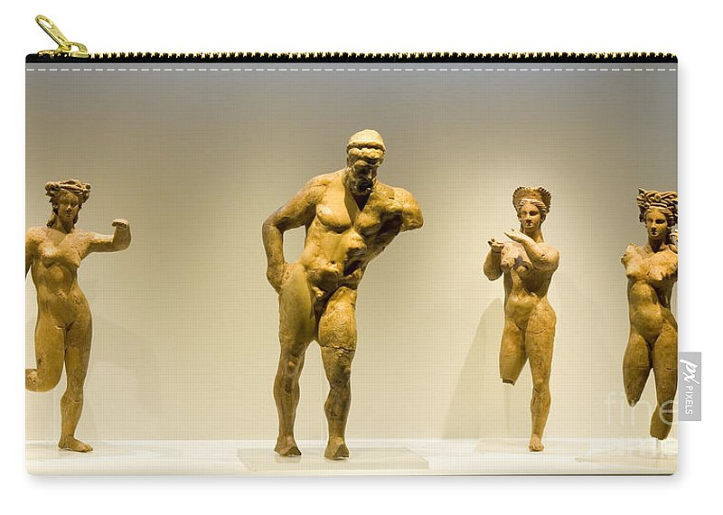 Ancient Carry-all Pouch featuring the photograph Ancient Greek Artifacts by Moshe Torgovitsky