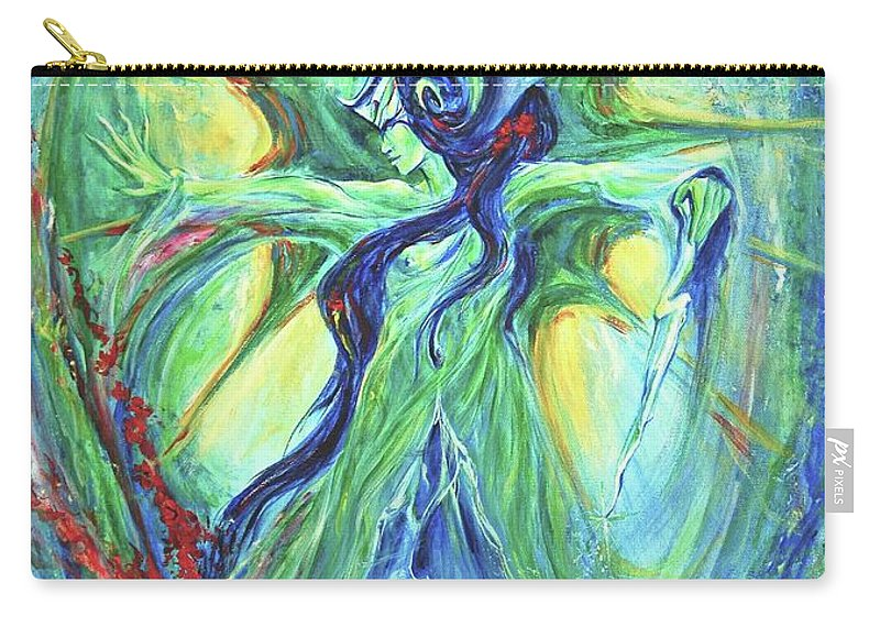 Goddess Carry-all Pouch featuring the painting Ancient History by Jennifer Christenson