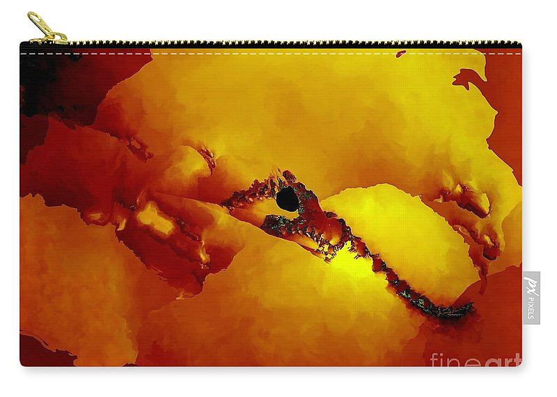 Fractal Art Carry-all Pouch featuring the digital art Ancient Map by Ron Bissett