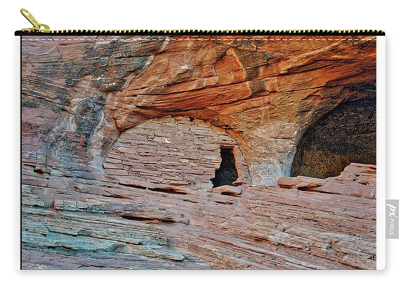 Mystery Valley Carry-all Pouch featuring the photograph Ancient Ruins Mystery Valley Colorado Plateau Arizona 05 Text by Thomas Woolworth