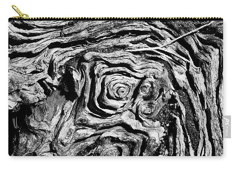 Tree Carry-all Pouch featuring the photograph Ancient Stump by Christopher Holmes