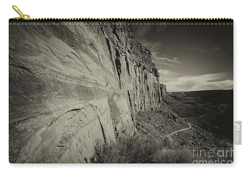 Utah Landscape Carry-all Pouch featuring the photograph Ancient Walls by Jim Garrison