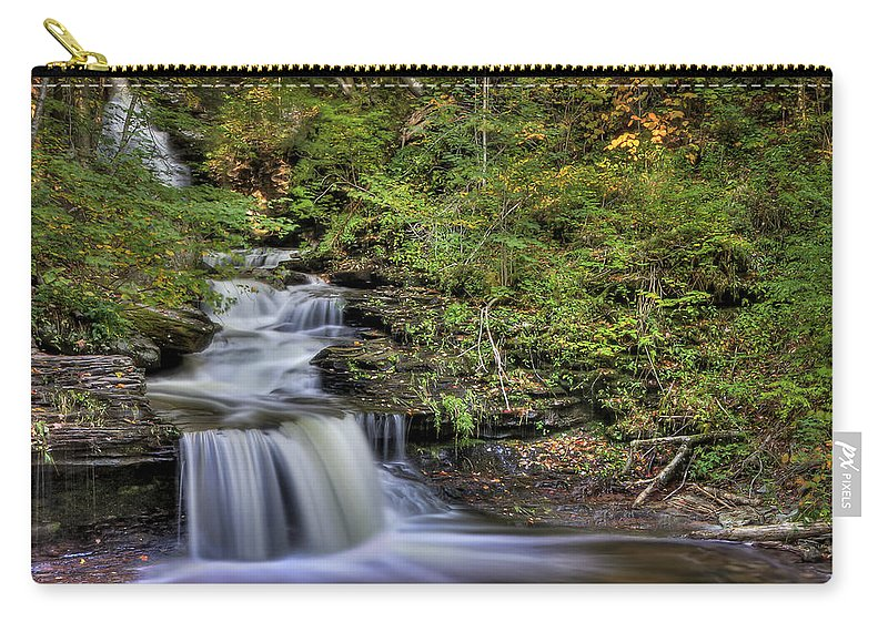 Fall Carry-all Pouch featuring the photograph ...and Down It Goes... by Evelina Kremsdorf