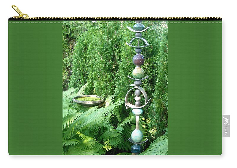 Sculpture Carry-all Pouch featuring the photograph And Sculpture Garden by Line Gagne