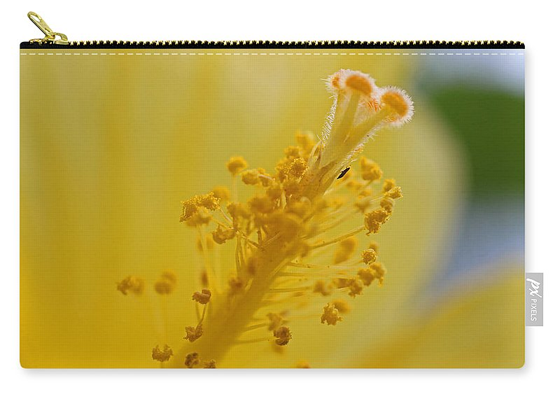 Hibiscus Carry-all Pouch featuring the photograph And So It Begins by Michiale Schneider