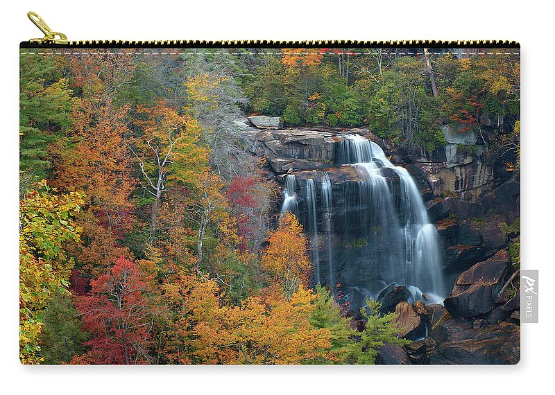 Waterfall Carry-all Pouch featuring the photograph And The Leaves Will Fall by J K York