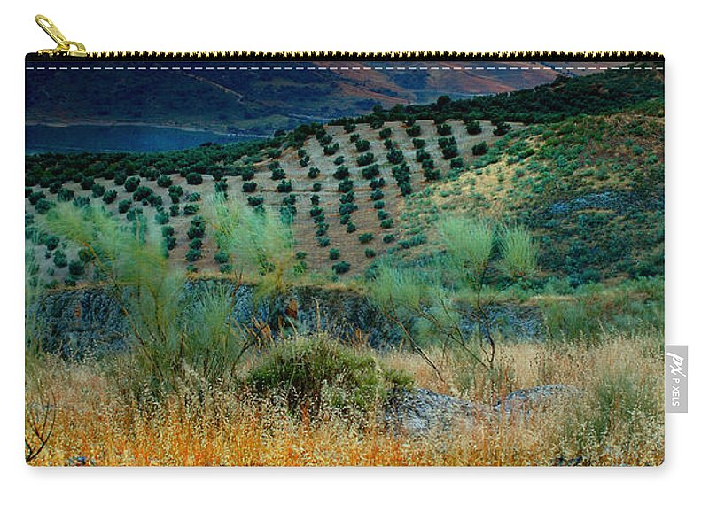 Andalucia Carry-all Pouch featuring the photograph Andalucian Landscape by Mal Bray
