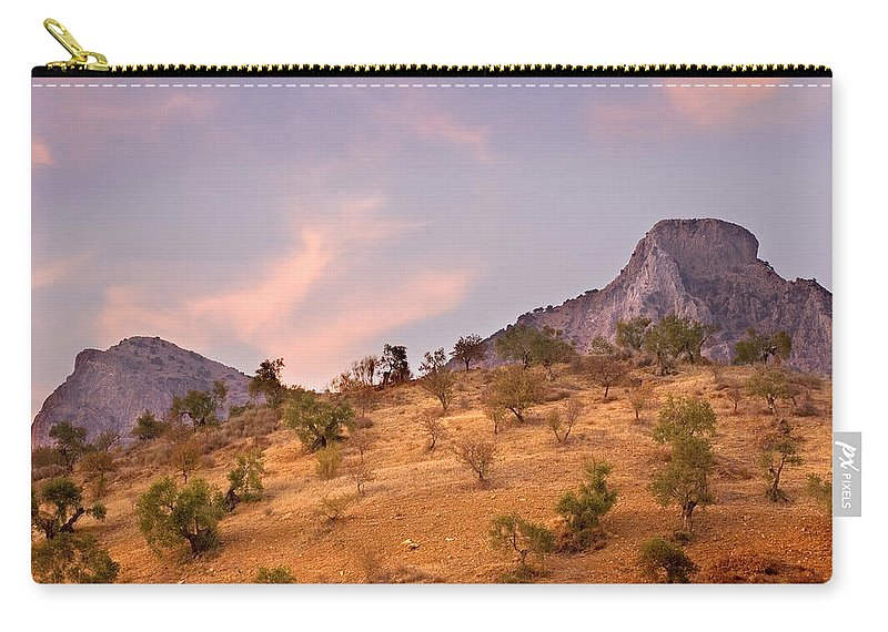 Andalucia Carry-all Pouch featuring the photograph Andalucian Landscape Near Zahara De La Sierra Spain by Mal Bray