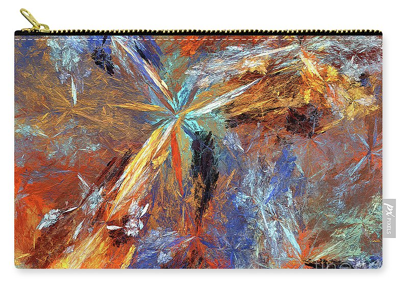 Abstract Carry-all Pouch featuring the digital art Andee Design Abstract 15 2018 by Andee Design