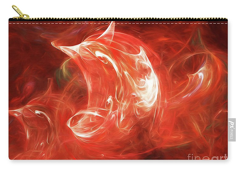 Abstract Carry-all Pouch featuring the digital art Andee Design Abstract 64 2017 by Andee Design