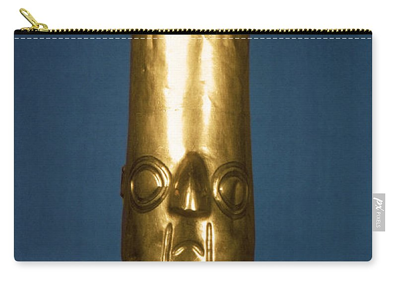 1400 Carry-all Pouch featuring the photograph Andes: Gold Effigy, 1400 by Granger