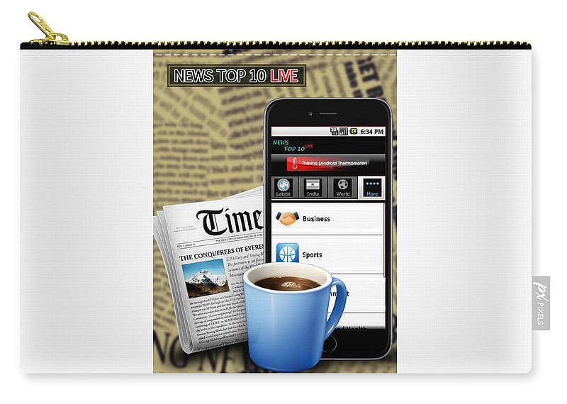 Android Apps Carry-all Pouch featuring the digital art Android App Development Abu Dhabi by Michaeltim