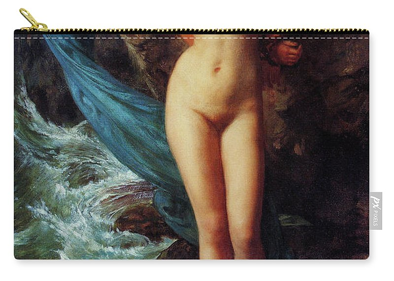 Andromeda Carry-all Pouch featuring the painting Andromeda by Sir Edward John Poynter