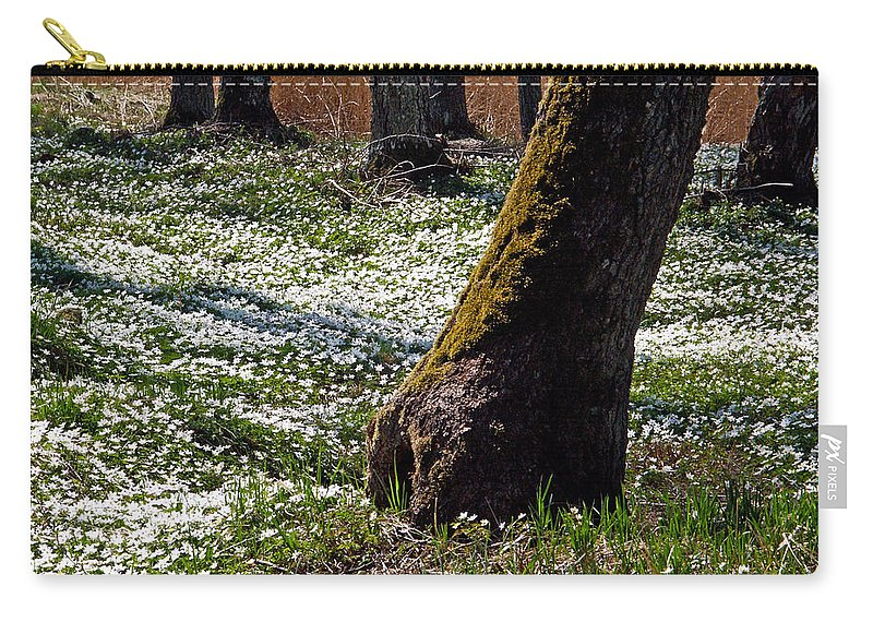 Lehtokukka Carry-all Pouch featuring the photograph Anemone Forest by Jouko Lehto