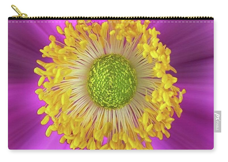 Beautiful Carry-all Pouch featuring the photograph Anemone Hupehensis 'hadspen by John Edwards
