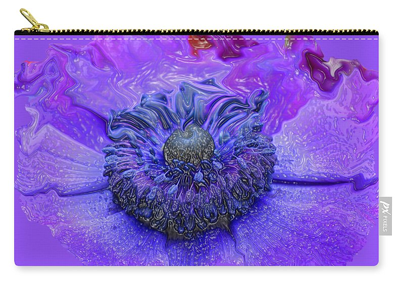 Abstract Flower Carry-all Pouch featuring the photograph Anemone by Kathy Moll