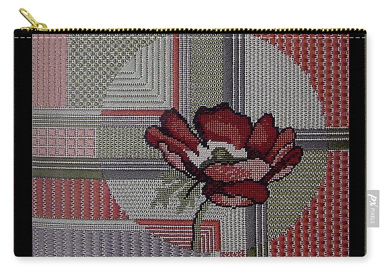 Thread Carry-all Pouch featuring the tapestry - textile Anemonie by Shirley Heyn