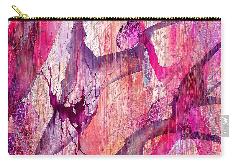 Abstract Carry-all Pouch featuring the digital art Aneurysm by Rachel Christine Nowicki