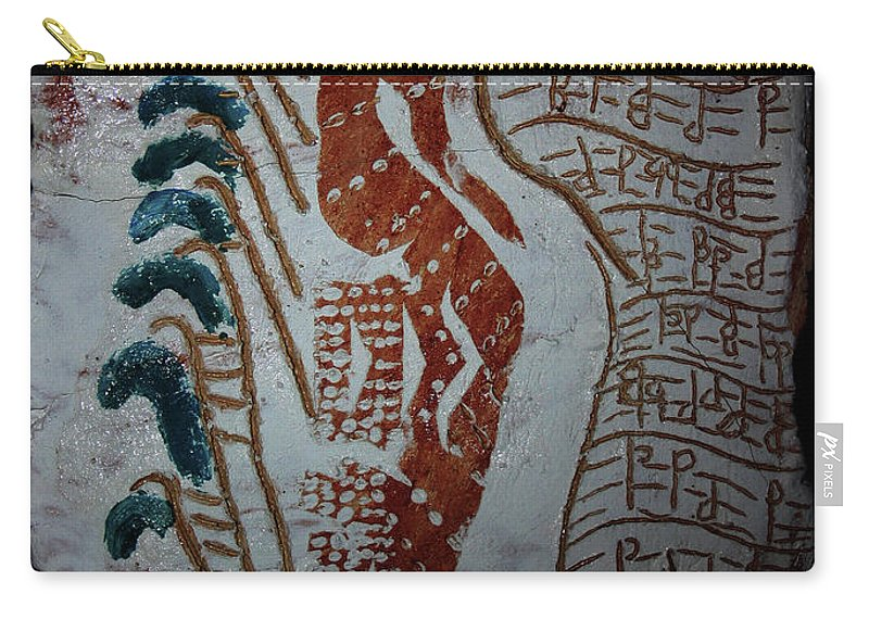 Mamamama Africa Twojesus Carry-all Pouch featuring the ceramic art Angel 3 by Gloria Ssali