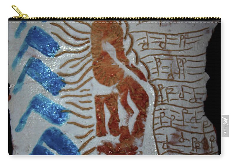 Mamamama Africa Twojesus Carry-all Pouch featuring the ceramic art Angel 6 by Gloria Ssali