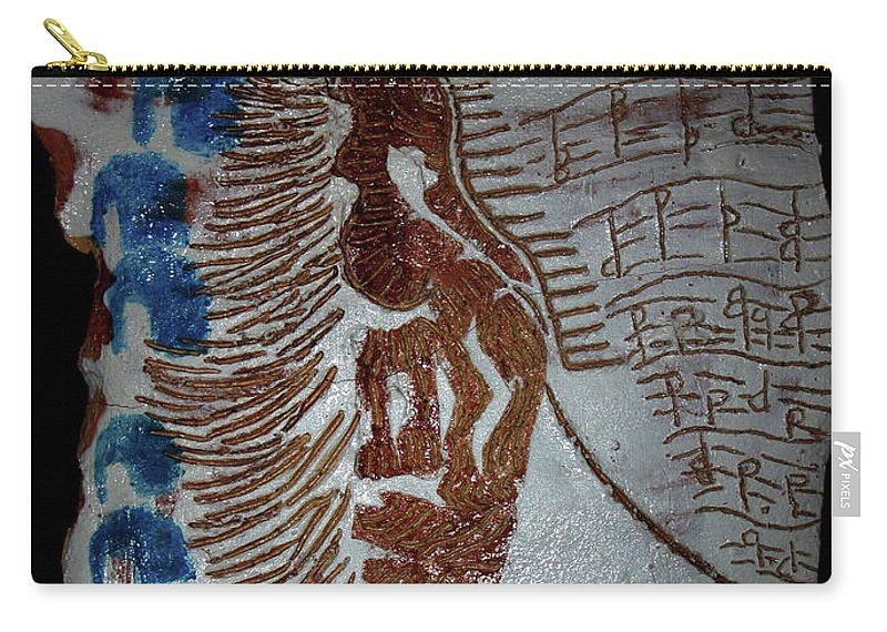 Mamamama Africa Twojesus Carry-all Pouch featuring the ceramic art Angel 7 by Gloria Ssali