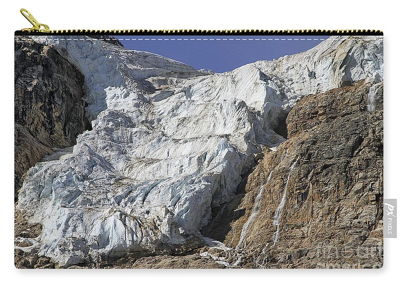Glacier Carry-all Pouch featuring the photograph Angel Glacier by Teresa Zieba