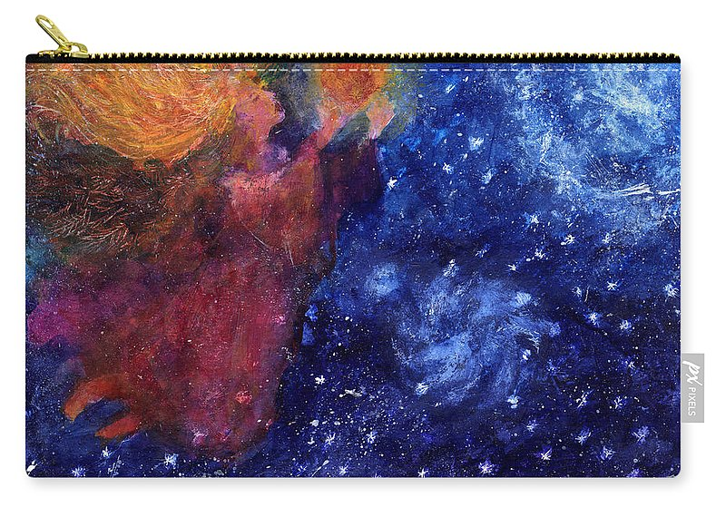 Angel Carry-all Pouch featuring the painting Angel Heart by Diana Ludwig