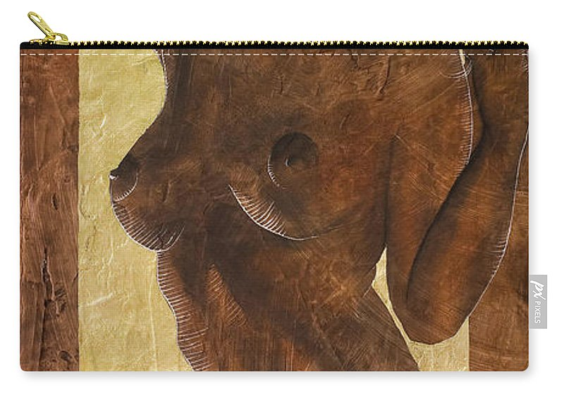 Nude Carry-all Pouch featuring the painting Angel In Gold by Richard Hoedl