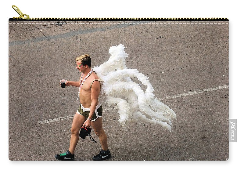 Brighton Carry-all Pouch featuring the photograph Angel by Jamie McGrane
