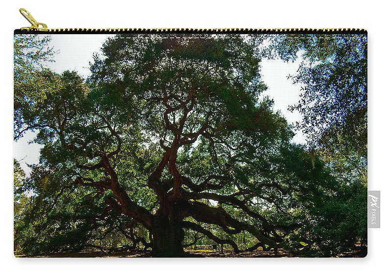 Tree Carry-all Pouch featuring the photograph Angel Oak Tree 2004 by Louis Dallara