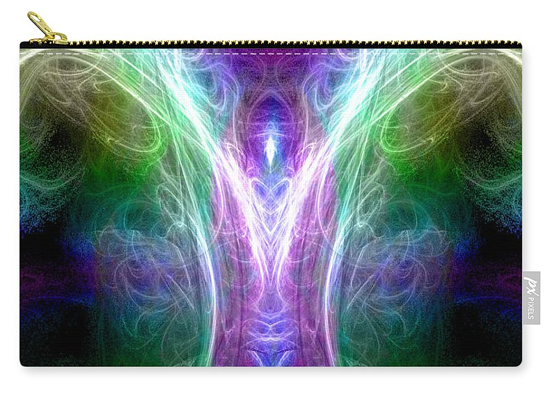 Digital Carry-all Pouch featuring the digital art Angel Of Healing by Diana Haronis