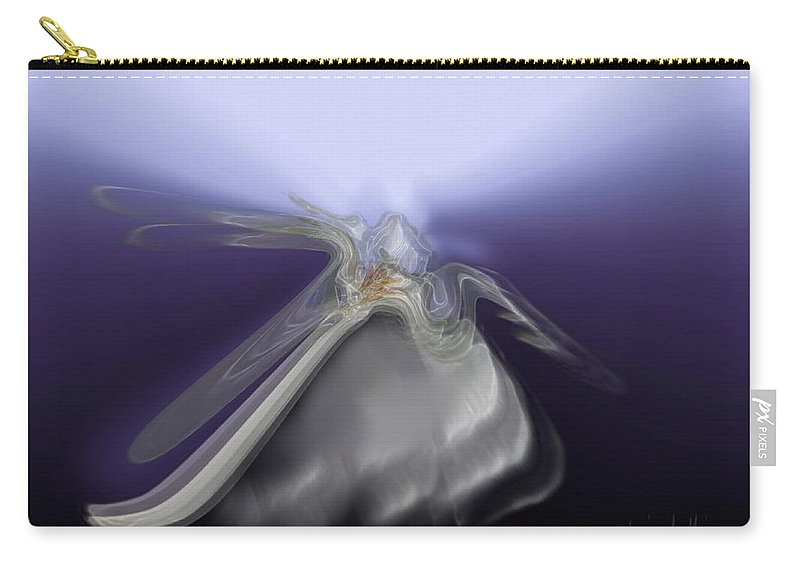Abstract Carry-all Pouch featuring the digital art Angel Of Light by Clare Iacobelli