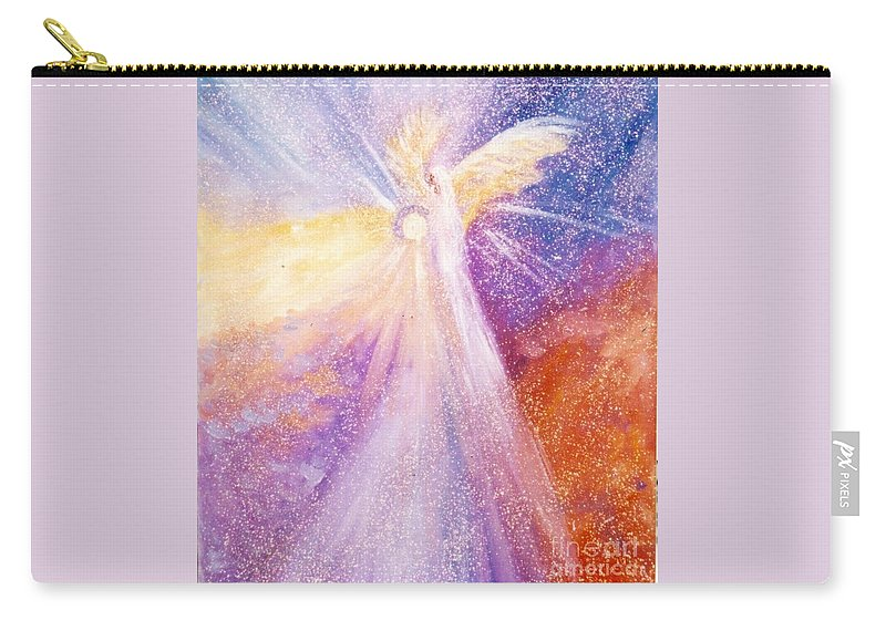 Angel Carry-all Pouch featuring the painting Angel Of Light by Sandy Sereno