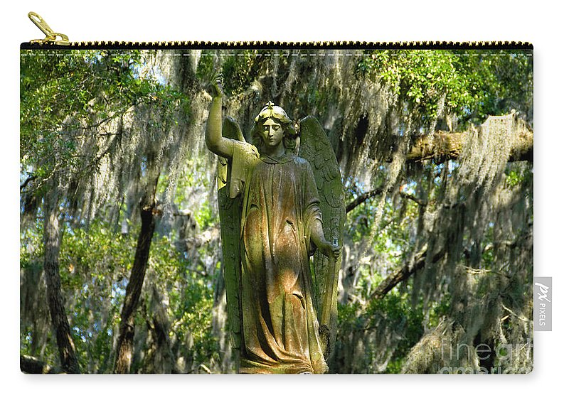 Savanna Georgia Carry-all Pouch featuring the photograph Angel Of Savanna by David Lee Thompson