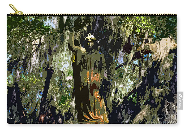 Angel Carry-all Pouch featuring the painting Angel Of Savannah by David Lee Thompson