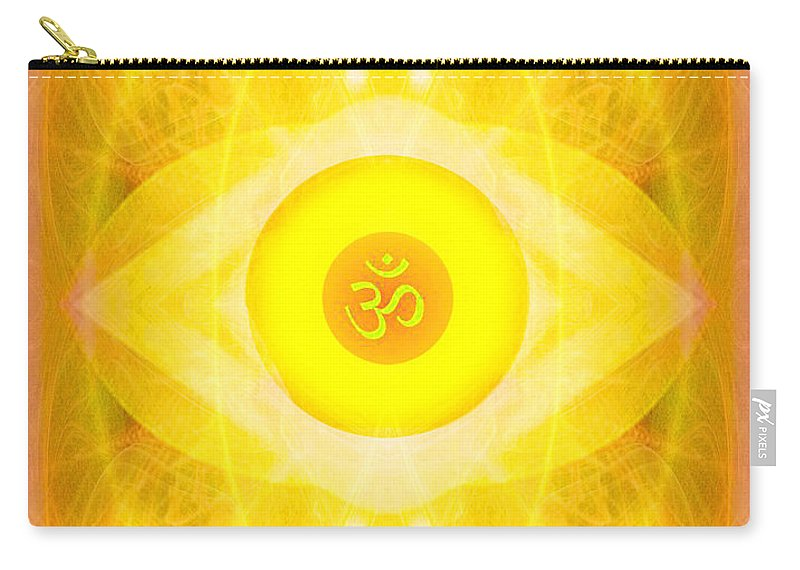 Angel Carry-all Pouch featuring the digital art Angel Of The Sun by Diana Haronis