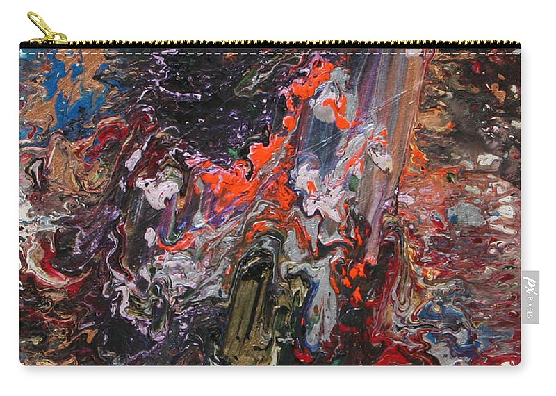 Fusionart Carry-all Pouch featuring the painting Angel Rising by Ralph White