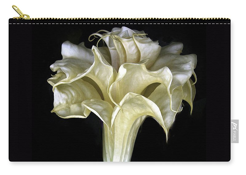 Flower Carry-all Pouch featuring the photograph Angel Trumpet by Jessica Jenney