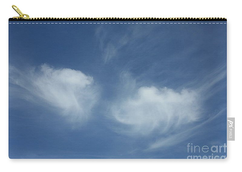 Angel Wings Carry-all Pouch featuring the photograph Angel Wings In The Sky by Carol Groenen