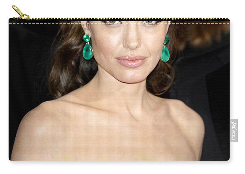 Angelina Jolie Carry-all Pouch featuring the photograph Angelina Jolie by Nina Prommer