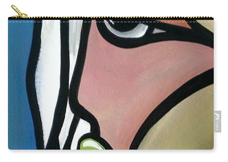 Face Carry-all Pouch featuring the painting Angelo by LKB Art and Photography