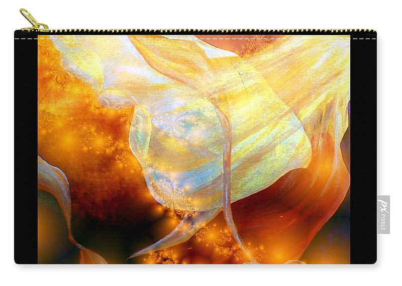 Abstract Carry-all Pouch featuring the digital art Angels Among Us by Claire Bull